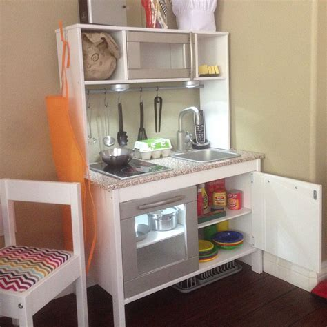 kitchen cabinet hacks ikea duktig play kitchen hack crafting pinterest