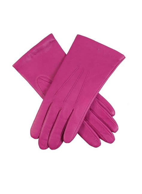 ladies hot pink leather gloves emma women s classic leather gloves