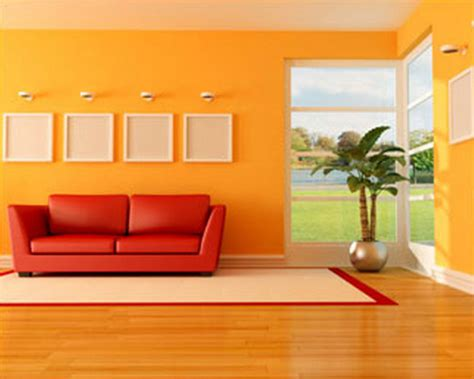 decorating home with orange colour interior design ideas