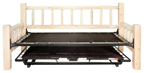 day bed with trundle bed rustic daybeds by shopladder