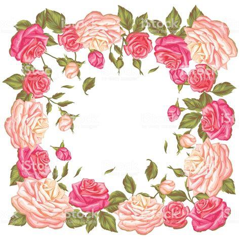 cornici con fiori vintage cornice con retr 242 fiori decorativi immagine