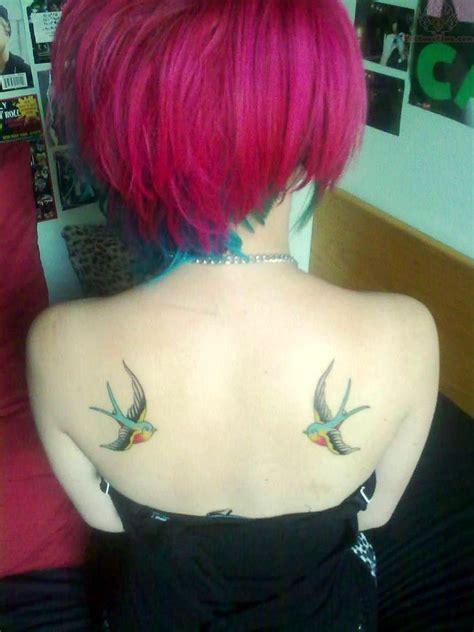 girl back tattoo color tattoos on back shoulders