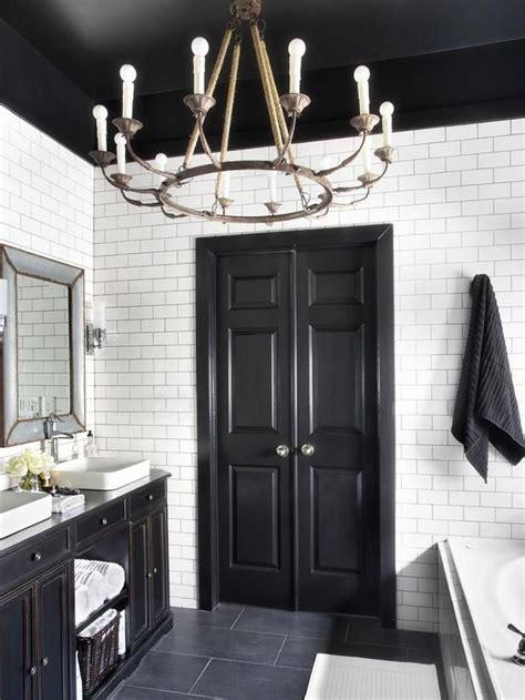 timeless black and white master bathroom makeover