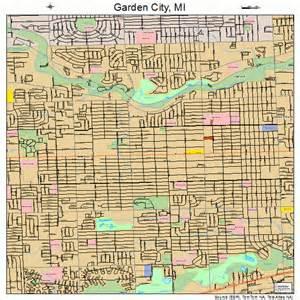 garden city michigan map 2631420
