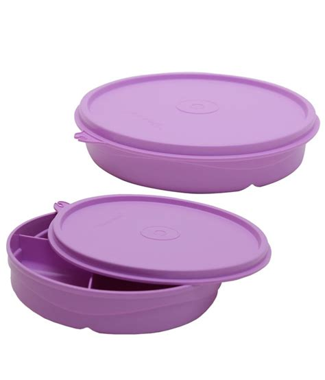 tupperware violet polypropylene 500 ml lunch box set of 2