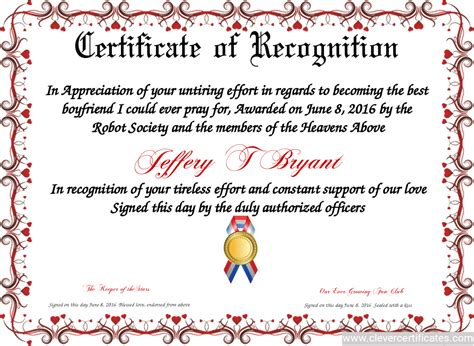 Free Template For Certificate Of Recognition by Certificate Of Recognition Free Certificate Templates