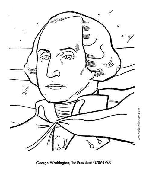 printable coloring pages us presidents president s day george washington
