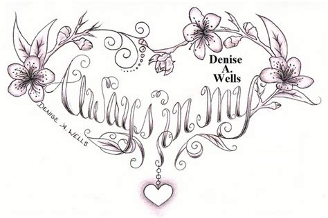 forever in my heart tattoo designs always in my design