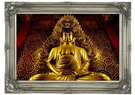 Buddha Wall Murals thai golden buddha ethnic art mural printed wall mural