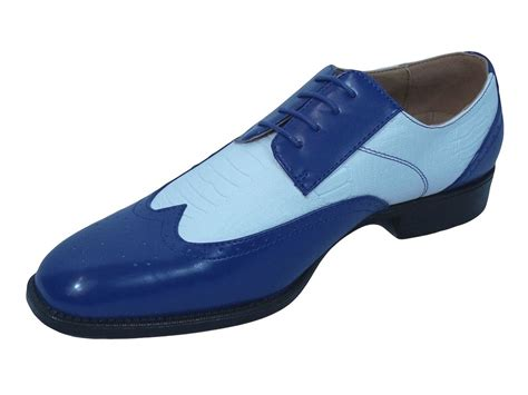 s dress shoes cambria 056 royal blue and white wing