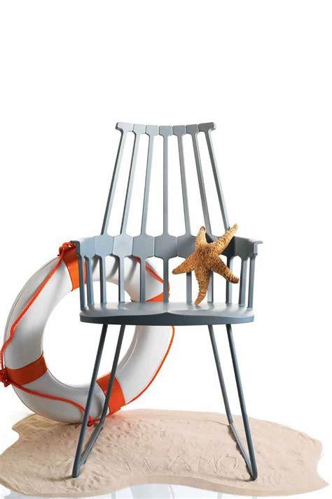 sedie a comback 5950 sedia kartell di design struttura a slitta