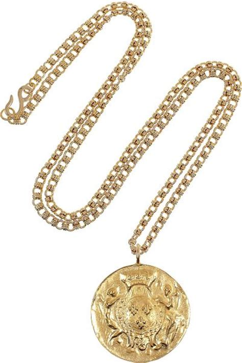 Kenneth Lanes Lipstick Necklace At Outfitters by Kenneth Goldplated Coin Necklace In Gold Lyst