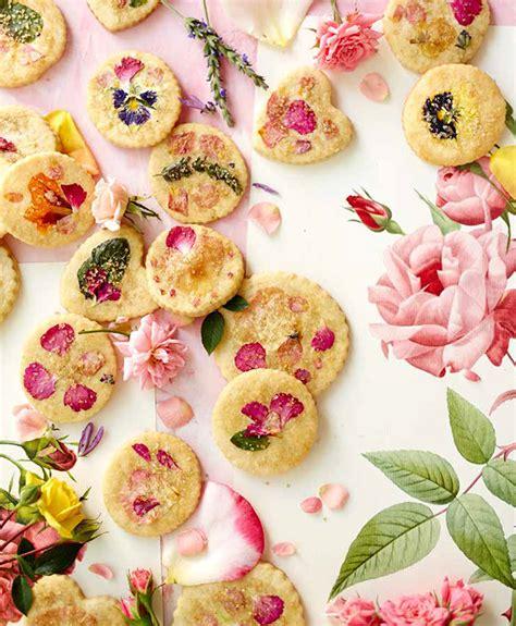 flower food recipe sugar cookies with edible flowers