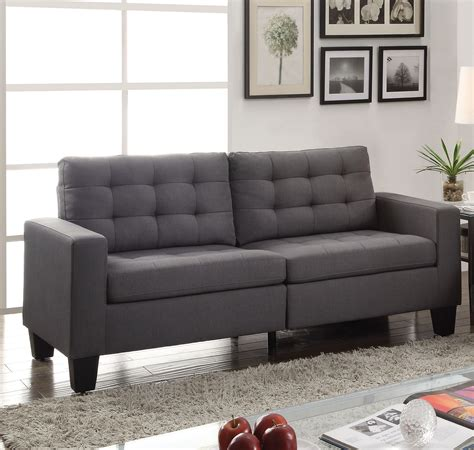 contemporary tufted sofa ealdun contemporary button tufted sofa loveseat in gray