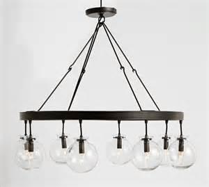 globe lighting chandelier barrett glass globe chandelier pottery barn
