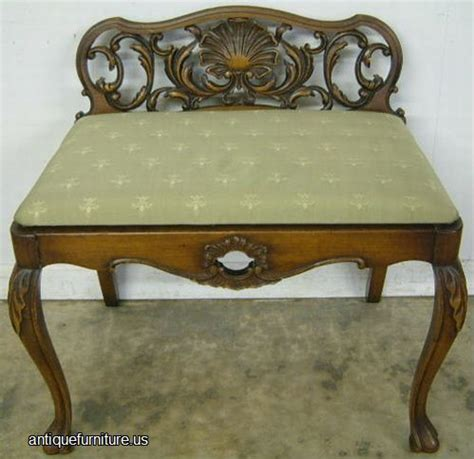 antique vanity bench antique romweber walnut vanity bench at antique furniture us