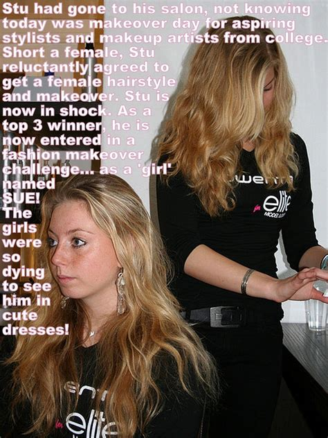 forced fem extreme beauty salon makeover pin by heather rielley on tg caps pinterest captions
