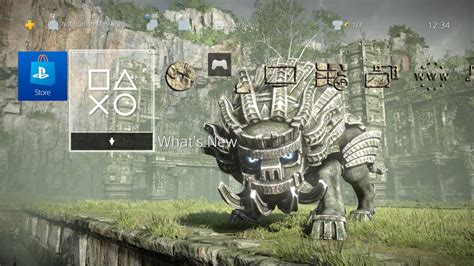 ps4 themes uk release shadow of the colossus