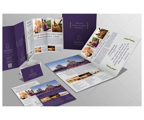 business card brochure template violet print templates bundle bifold brochure trifold