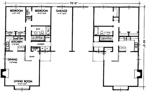 1237 west floor plan contemporary style house plan 2 beds 1 baths 1076 sq ft