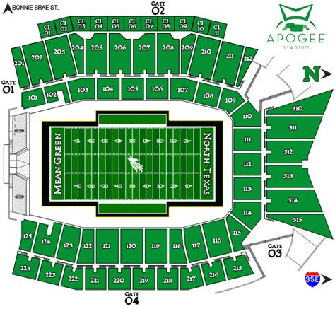 texas stadium seat map meangreensports university of texas official athletic site