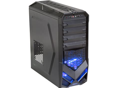 biggest pc case fan rosewill galaxy 01 atx mid tower black gaming computer