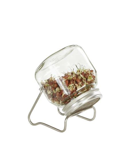 gartenartikel sale sprossenglas 750 ml mit edelstahlgestell seedshop24