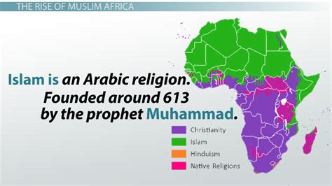 different sections of christianity the rise of muslim states in africa video lesson