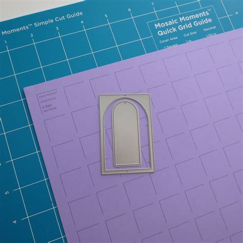 grid pattern mosaic 2 ways to journal with the arch tile die set