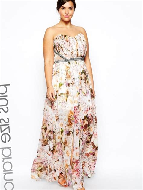 Size 5x Wedding Dresses by Floral Maxi Dress Plus Size Pluslook Eu Collection