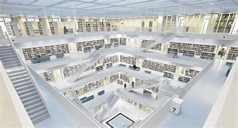 stuttgart library 25 stunningly beautiful libraries around the world listamaze