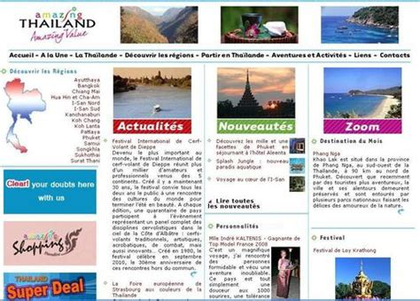 website layout en francais tha 239 lande cap sur l 233 co tourisme