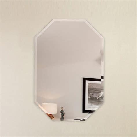 24 X 42 Frameless Mirror by Fab Glass And Mirror 24 In X 36 In Octagon Frameless