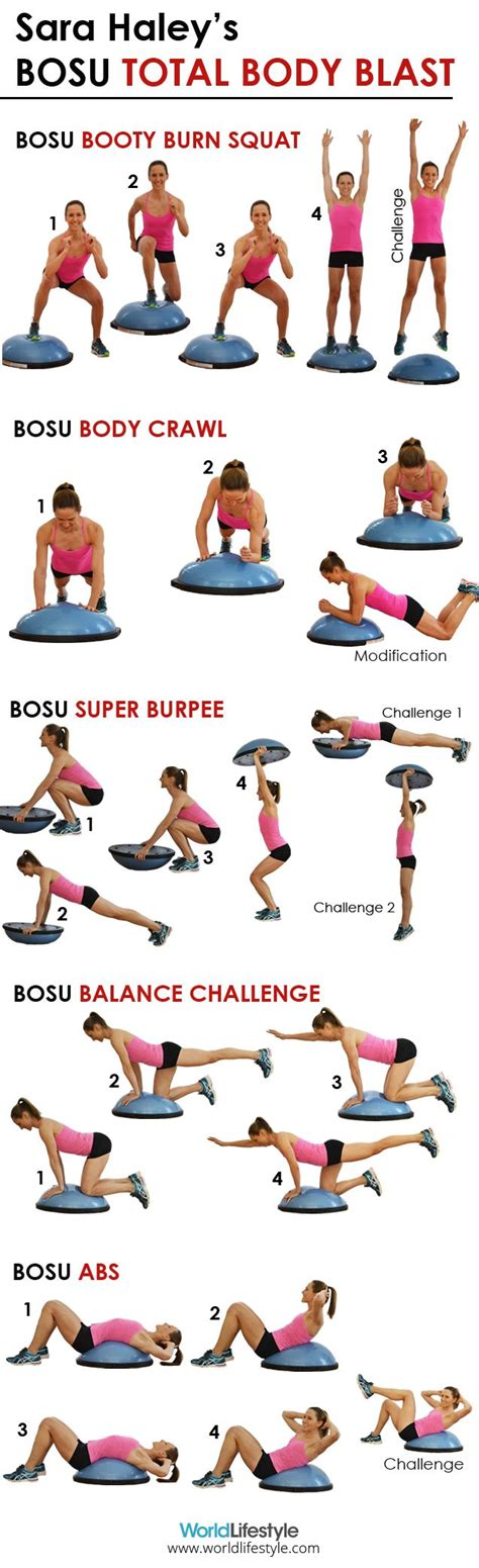 bosu on medicine stability and kettlebell