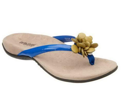 qvc orthaheel shoes vionic w orthaheel fleur orthotic flower detail