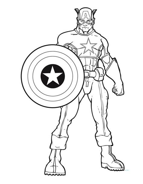 america coloring pages free shield of captain america coloring pages
