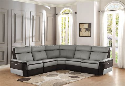 power reclining sectional sofa homelegance laertes power reclining sectional sofa set