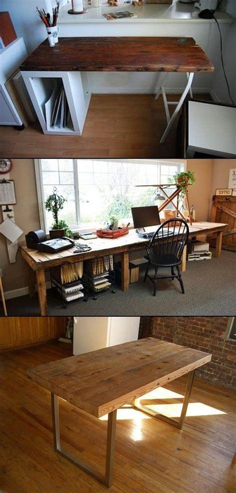 17 best ideas about reclaimed wood desk on