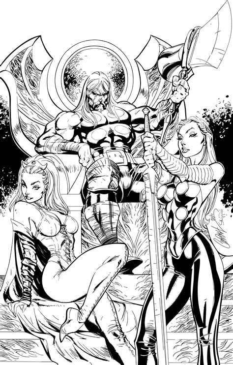 winter coloring book for adults grayscale line coloring book books thor inks by j skipper on deviantart