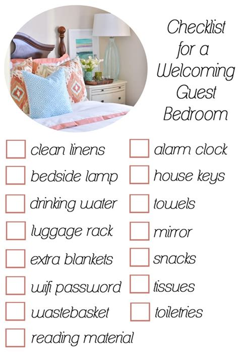 bedroom list a welcoming guest room centsational