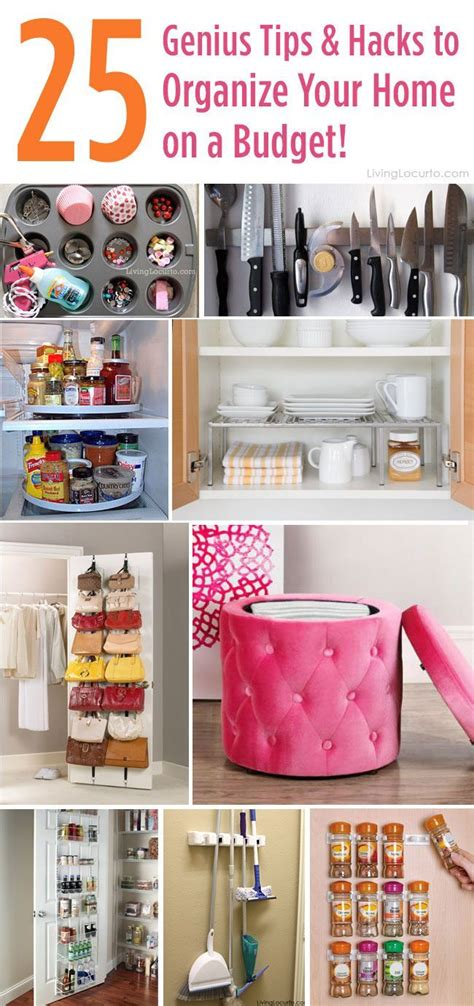 organizing hacks 25 genius tips and hacks to organize your home on a budget