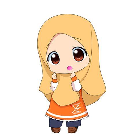 wallpaper animasi hijab chibi muslimah 1 by taj92 on deviantart