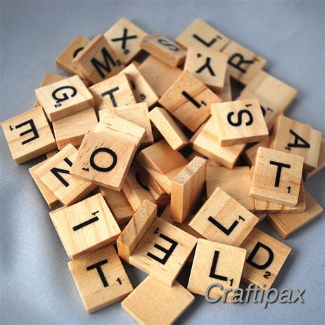 wooden scrabble letter tiles 100 wooden letter scrabble tiles scrapbooking craft uk
