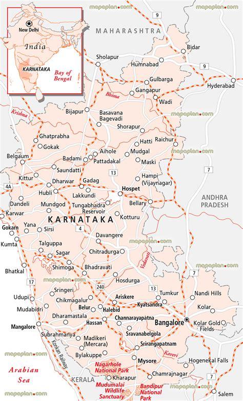 printable road map of india bangalore map bangalore on the map of karnataka region