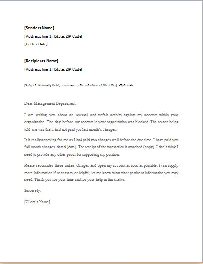 appeal letters writing guide sample word document