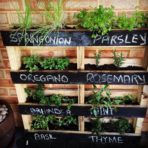 diy herb garden planter diy pallet vertical herb garden hanging planter 99 pallets