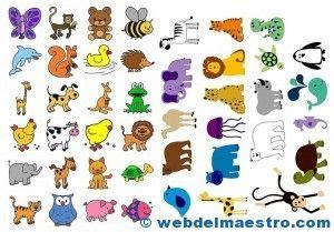 figuras de animales para imprimir pictogramas para imprimir de animales im 193 genes teachers