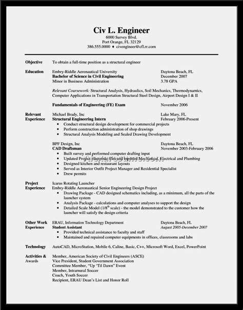 model resume for civil engineer kantosanpo com