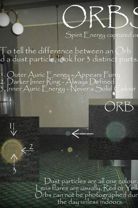 orbs   difference  orbs  dust particles