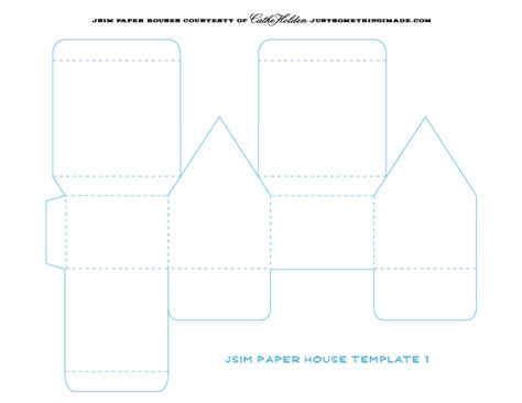 printable paper house template pin it